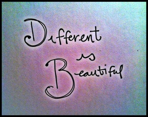 Different Is Beautiful Tumblr