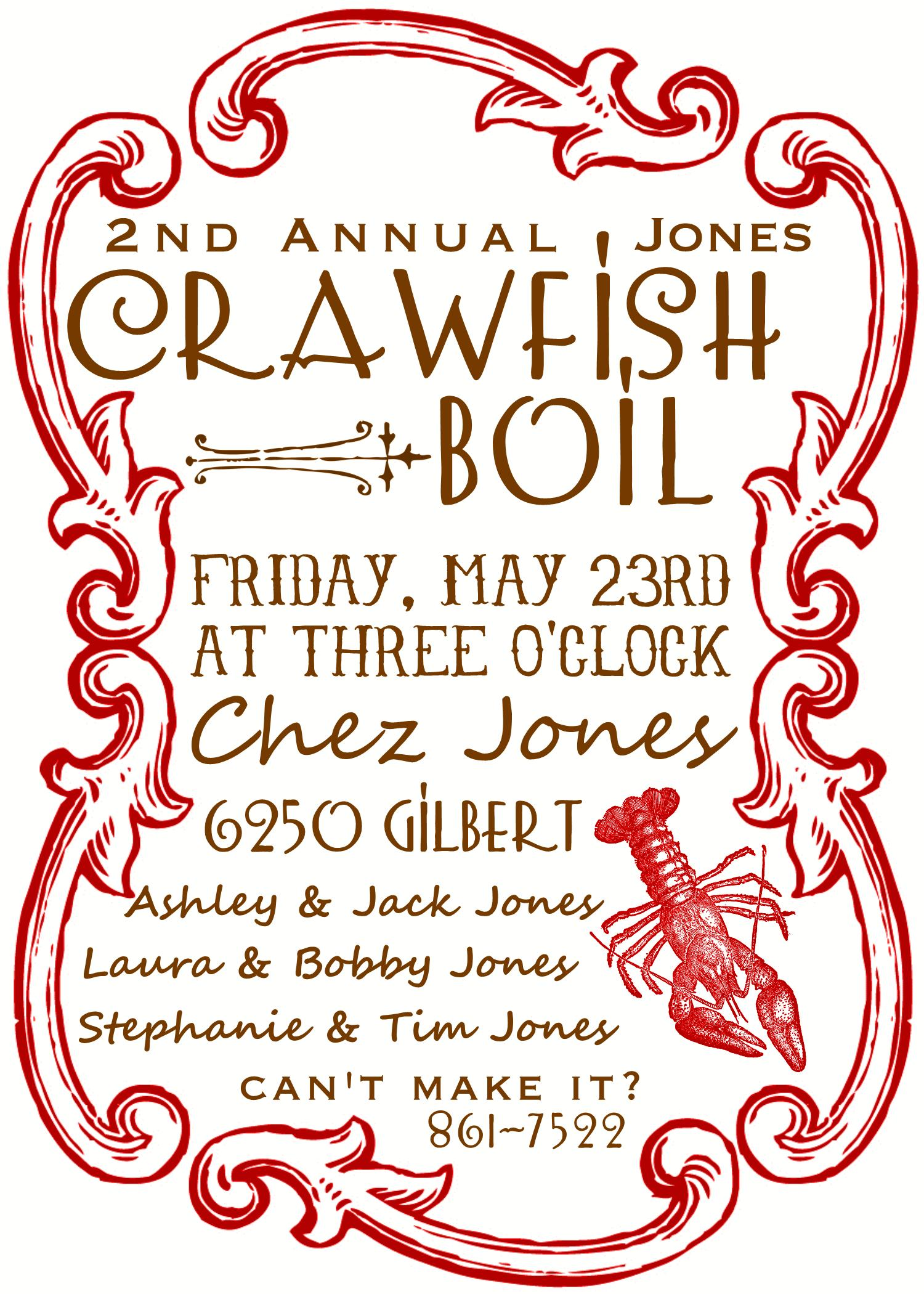 It's just a picture of Crawfish Boil Invitations Free Printable throughout paper