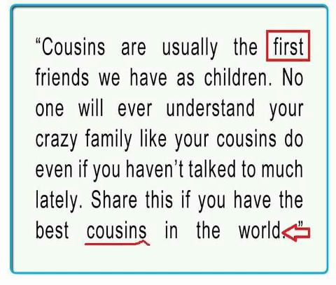 quotes about having the best cousin quotes