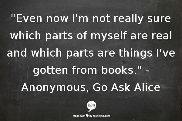 essay of go ask alice