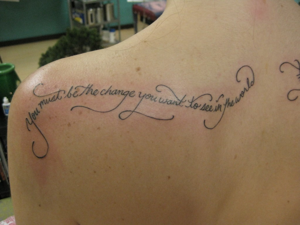 Quotes About Change Tattoos 32 Quotes