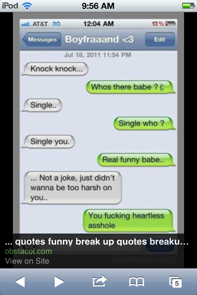Quotes about Funny break up (20 quotes)