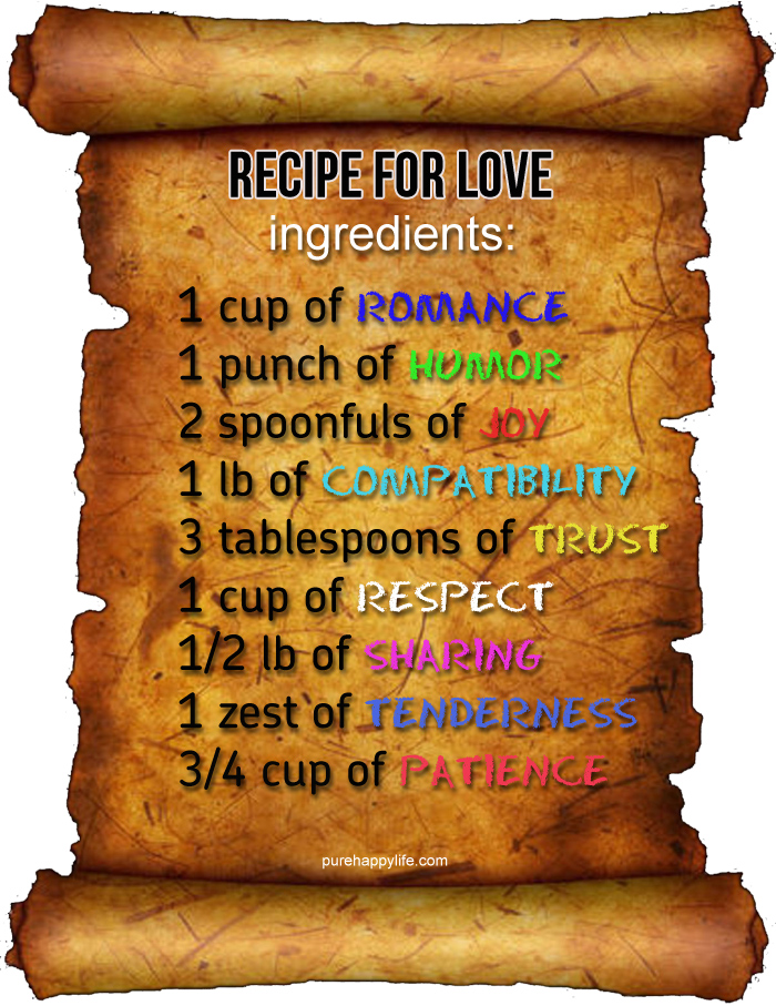 Quotes about Recipe for love (58 quotes)