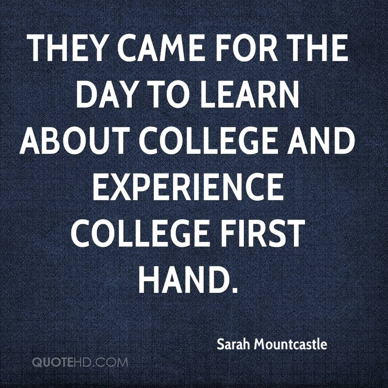 Quotes about First day at college (17 quotes)