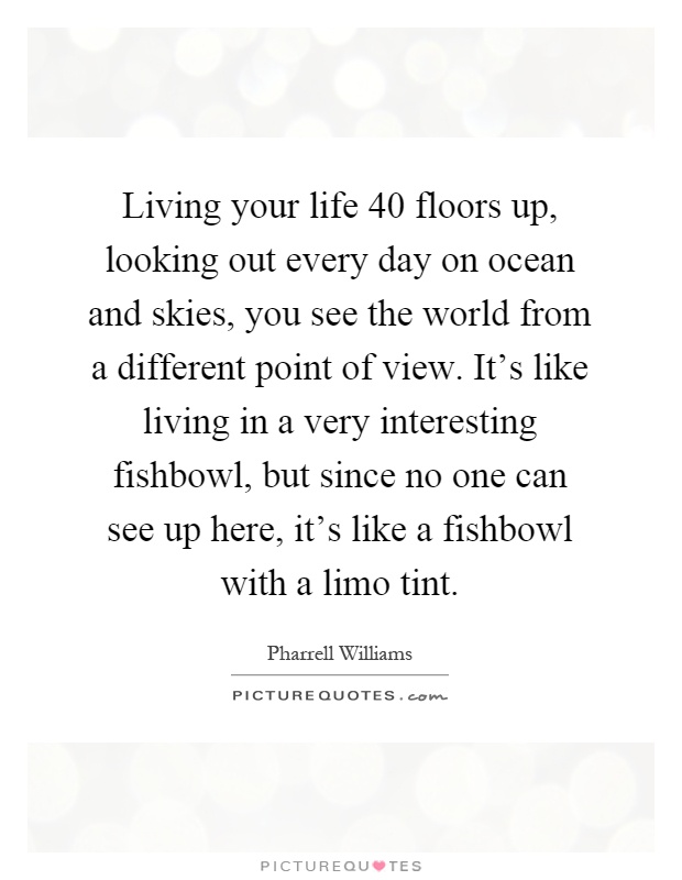 Quotes about Living in a fishbowl (18 quotes)