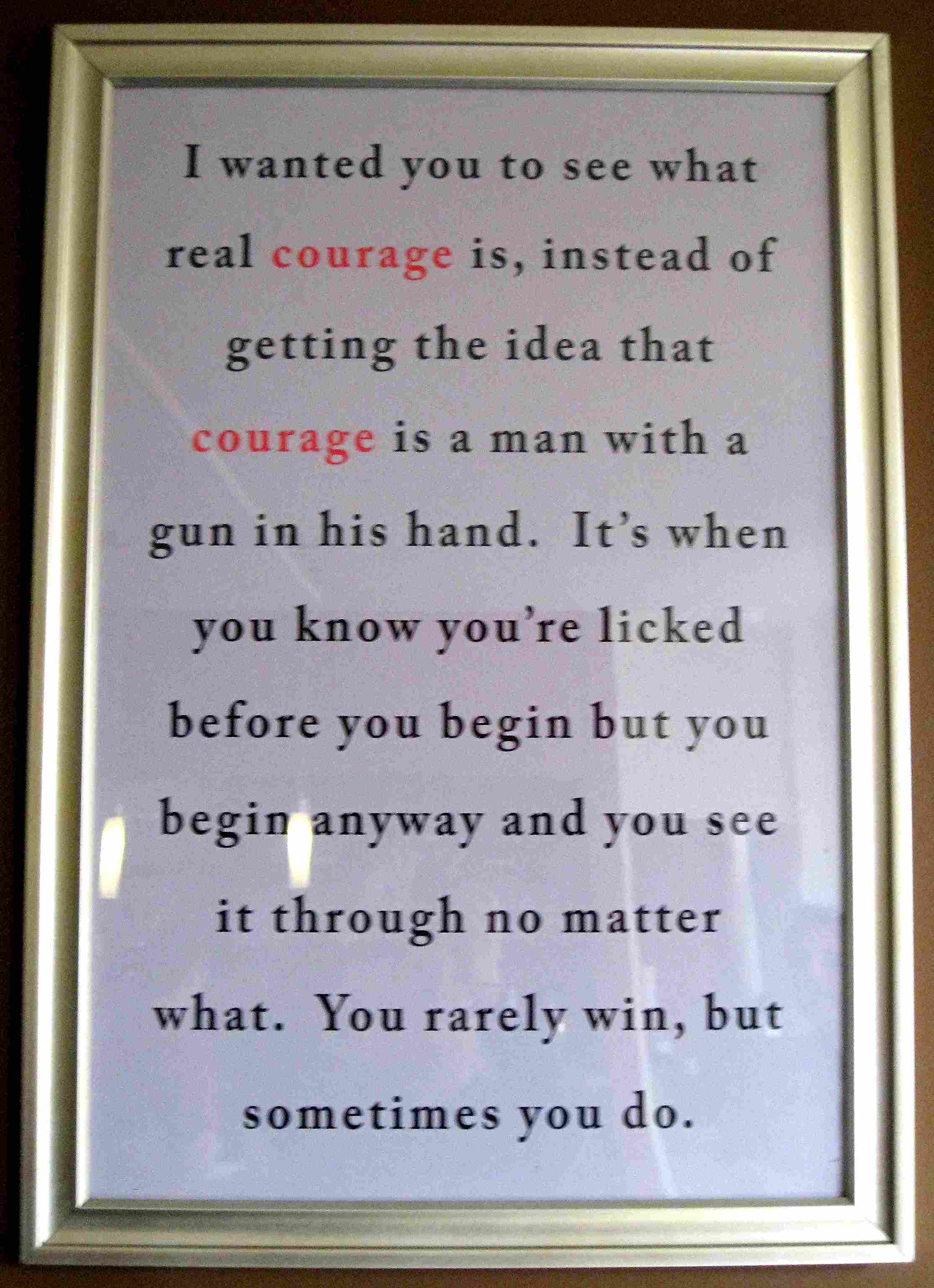 courage in to kill a mockingbird essay One of the most significant themes in to kill a mockingbird is courage, and harper lee uses many of the characters and circumstances in her novel to demonstrate all facets of courage there is a.