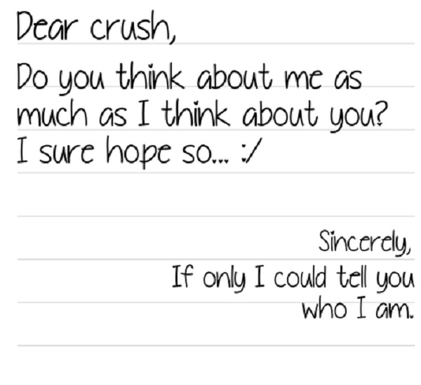 About having a crush quotes secret Quotes about
