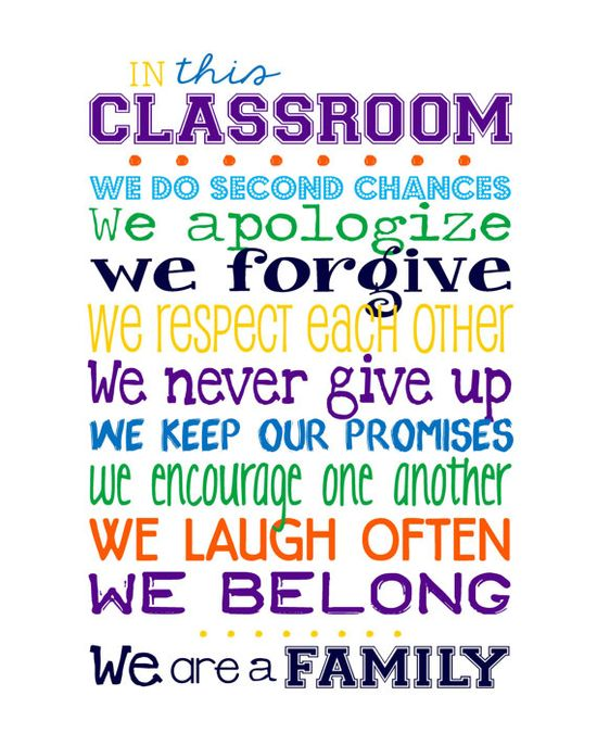 Classroom Decorating Ideas Middle School ~ Quotes about classroom