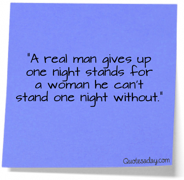 One night stand for women