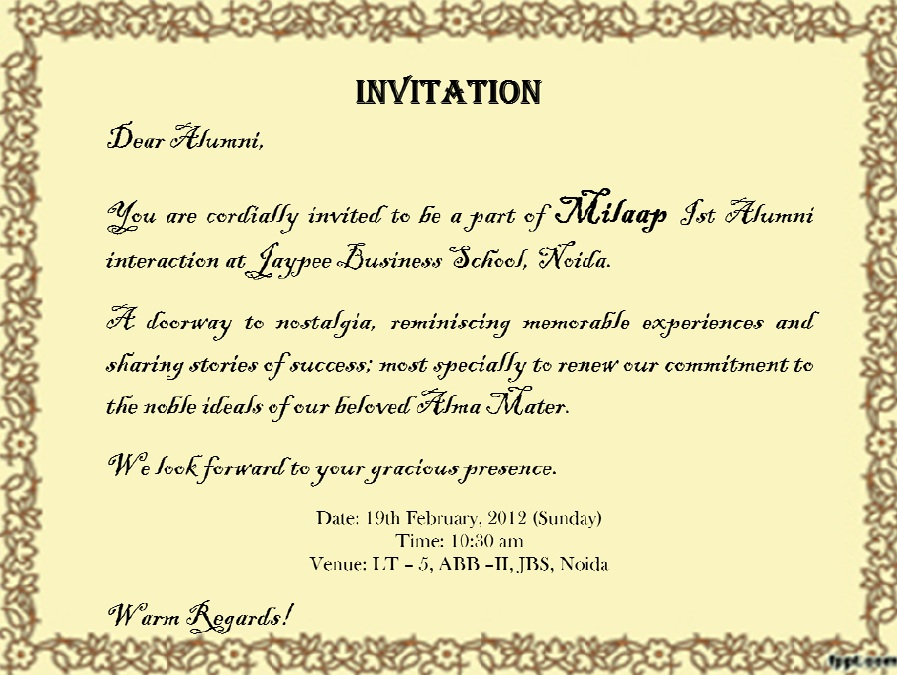 Quotes About Invitation 211 Quotes