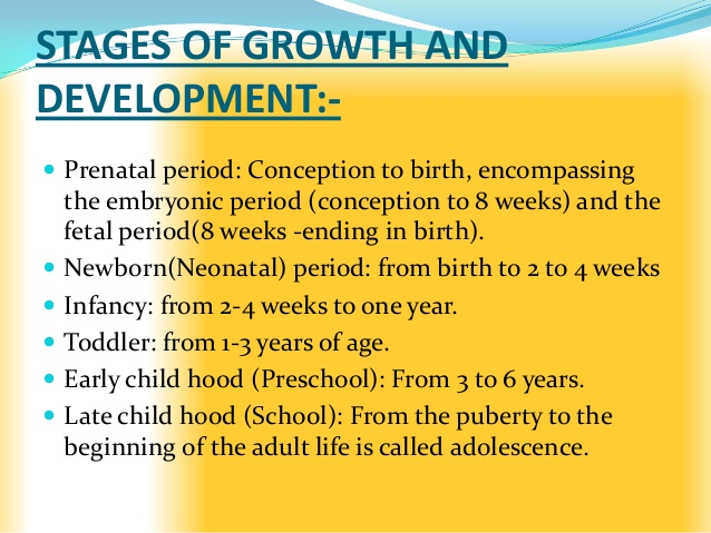 Adult growth and development