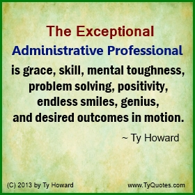 administrative professionals day thank you sayings