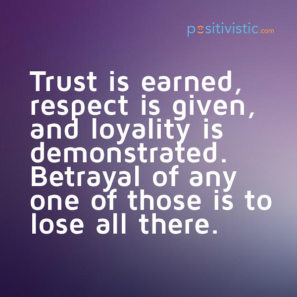 Quotes About Respect Love And Trust 37 Quotes