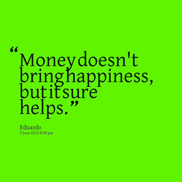 Sample essay: does money bring happiness?