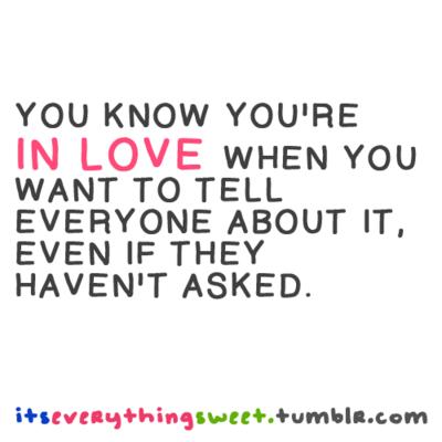when u know ur in love