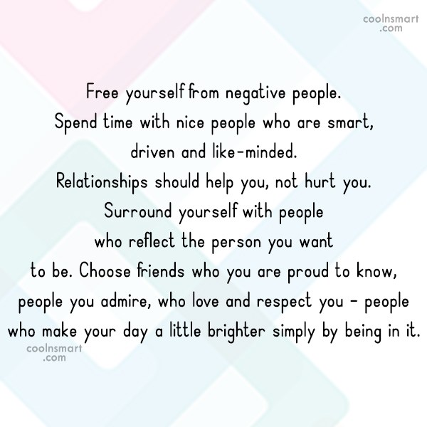 Free Yourself From Negative People Quote: Quotes About Free Yourself (171 Quotes