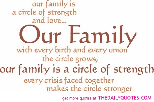 Quotes about Strength of family (64 quotes)