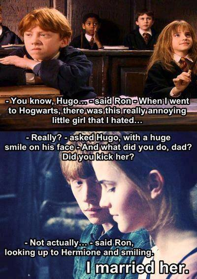 Did marry ron hermione why 7 Reasons