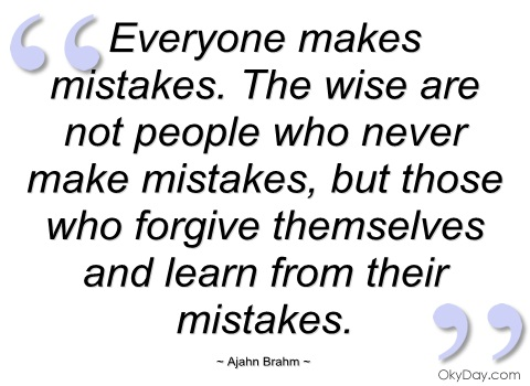 Quotes About Mistakes Learn 307 Quotes