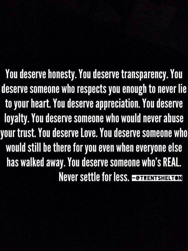 U deserve much better than me