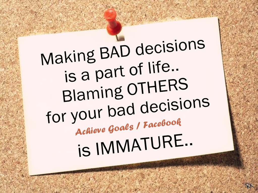 making life decisions