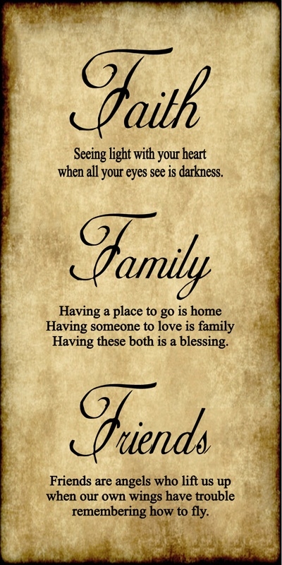 Quotes about Faith family and friends (50 quotes)