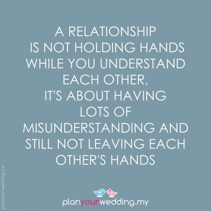 What is understanding in a relationship