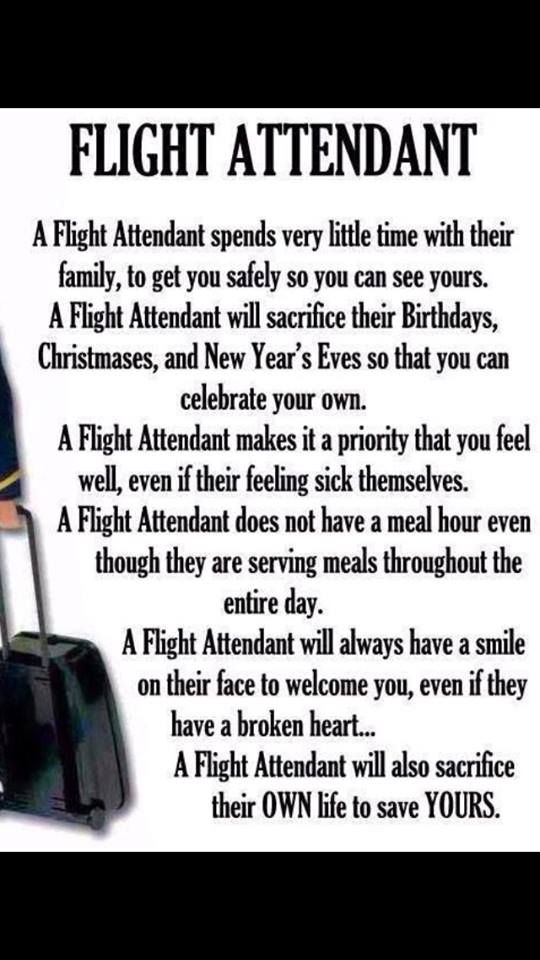 Quotes about Being a flight attendant (17 quotes)