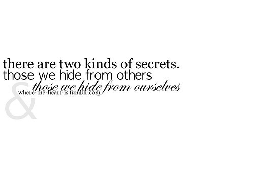 Quotes about Hidden Secrets (40 quotes)