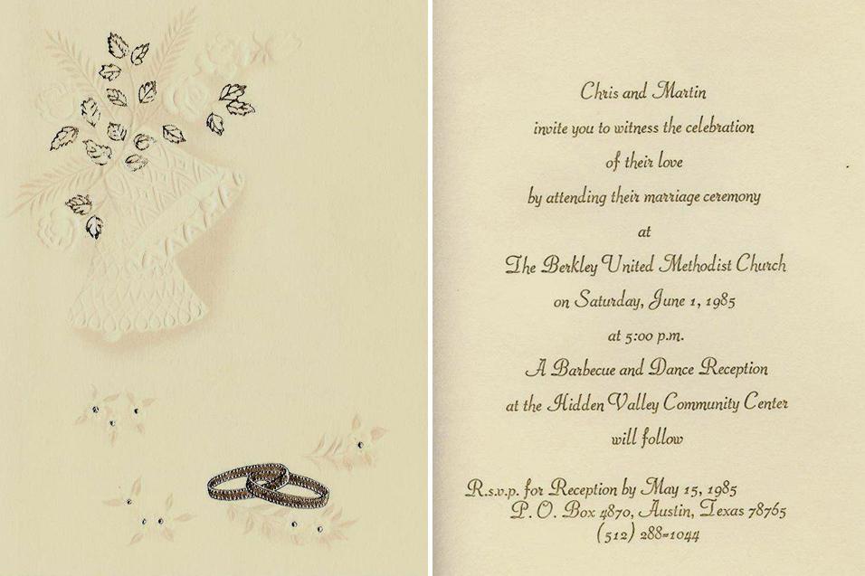 civil union wedding invitation wording California Map