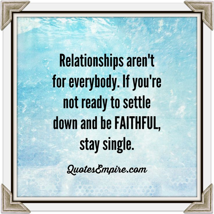 When is a guy ready to settle down