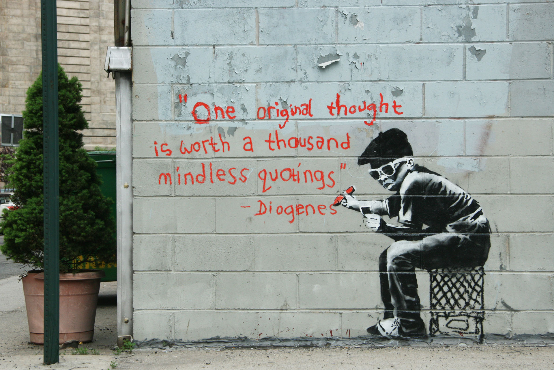 Grafitti art quote - Nfih Na Jclnous Nd Mhnjless Lookl Ngs