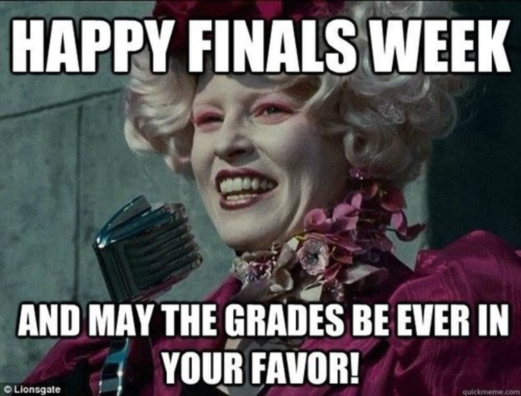 Quotes about Finals week (32 quotes)