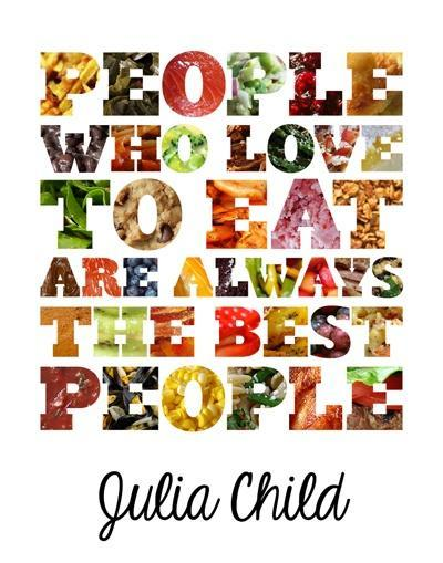 quotes about food and love