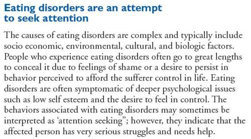 attention getter on eating disorders How to write an attention getter for example, if you are writing about eating disorders in fashion, you may describe your own experiences with body image.