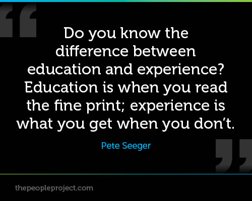 quotes about experience over education quotes