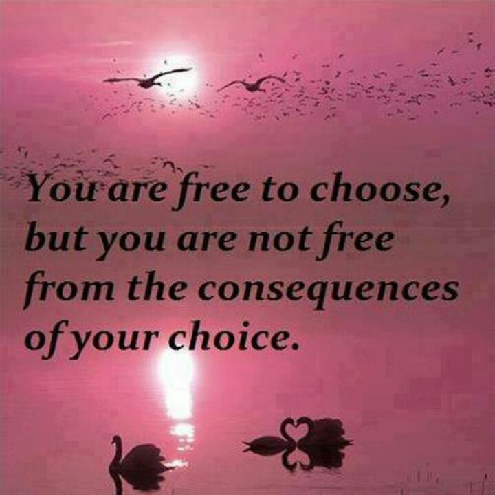 Quotes About Choice And Consequence 45 Quotes