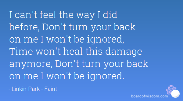 quotes about turning your back quotes