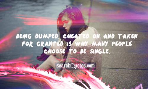 Pain of being dumped