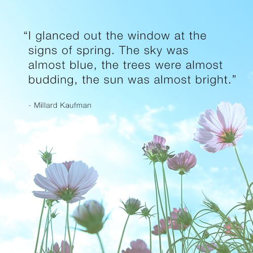 Quotes about spring flowers 108 quotes signs of spring the sky was almost blue the trees were almost budding the sun was almost bright millard kaufman mightylinksfo