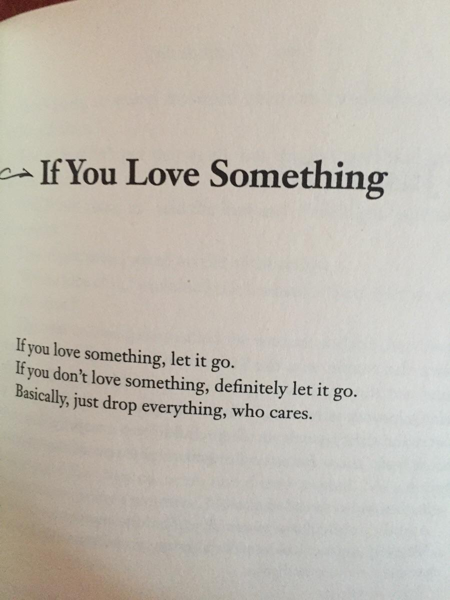 You something let go said it love who if If you
