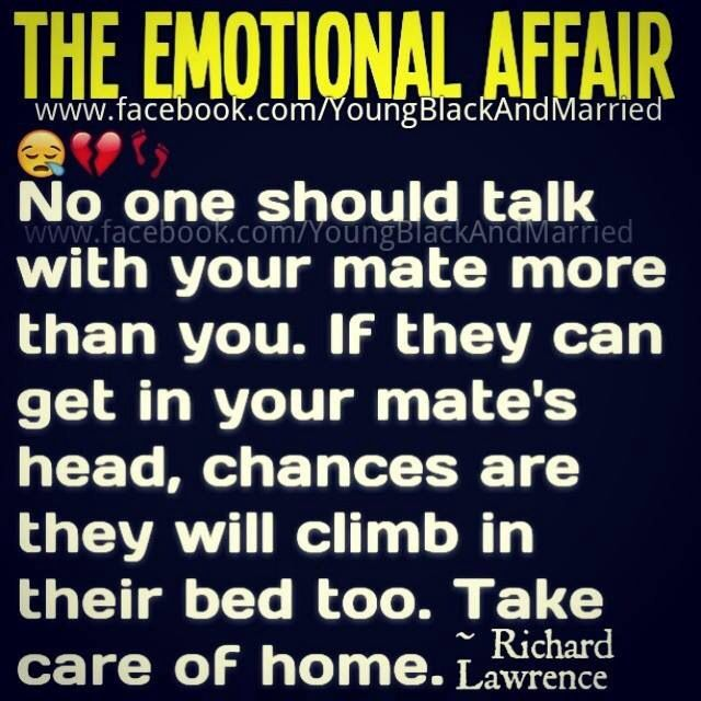 And married emotional affairs men Infidelity in