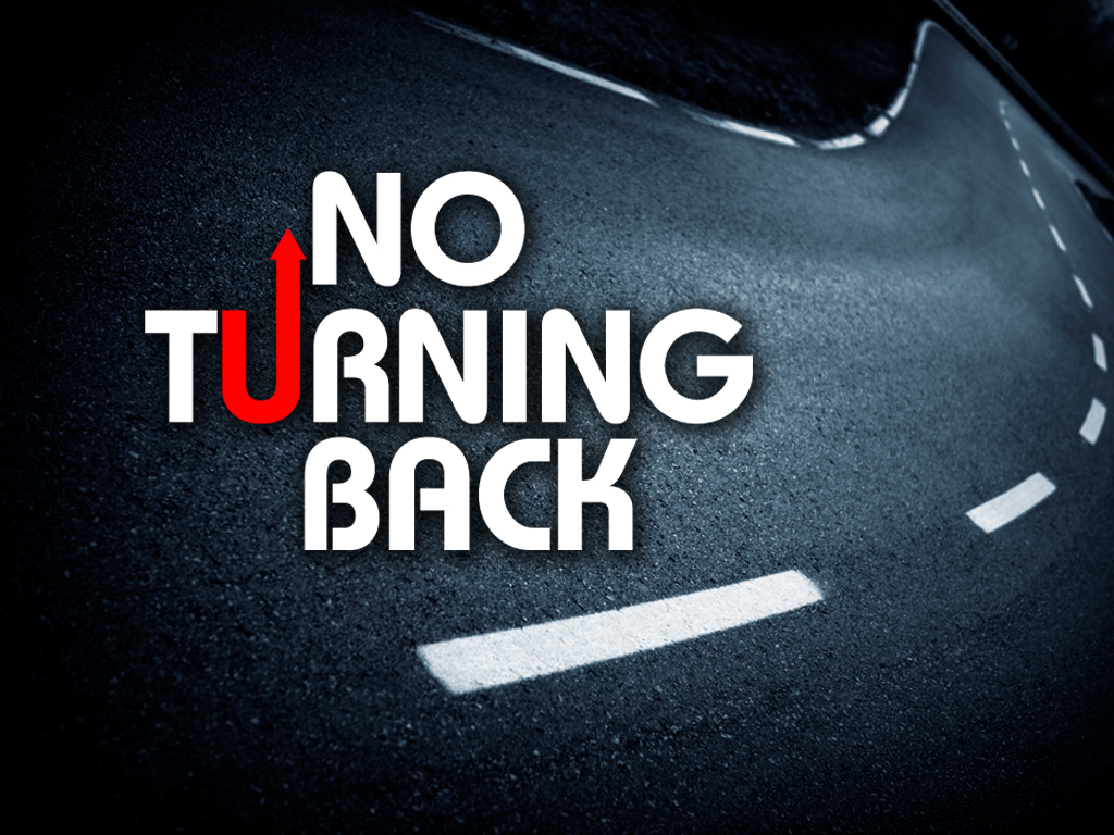 no turning back Church powerpoint template: no turning back use these backgrounds to support a sermon about the commitment required of a disciple of christ.