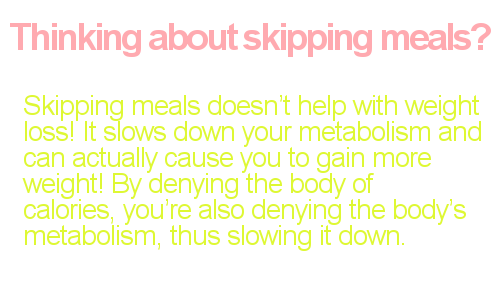 Skipping meals weight gain