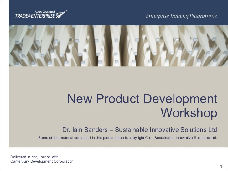 Master thesis product development