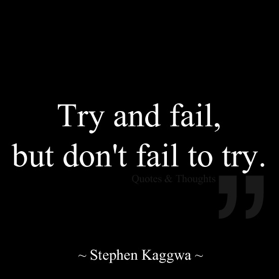 Quotes about Trying and failing (57 quotes)