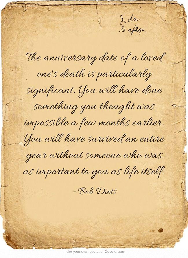 5 year death anniversary