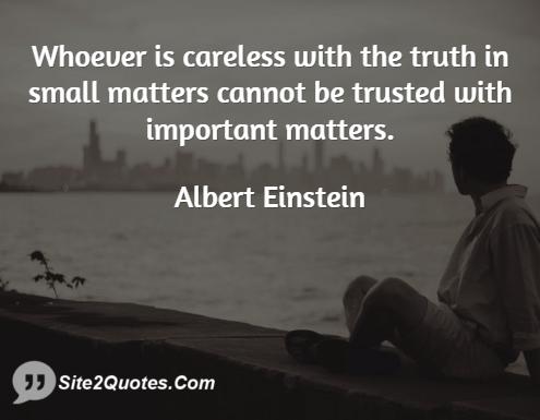 quotes about trust einstein quotes