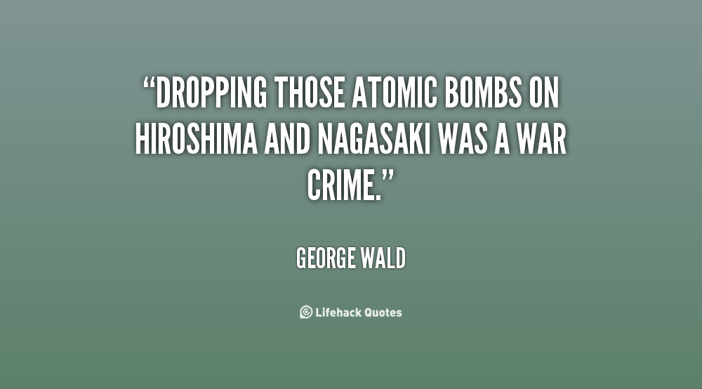 george orwells fear of the use of the atomic bomb and its consequences George orwell and the american conservatives of course the atomic bomb is the most powerful and george orwell assumes that zf such societies as he describes in.