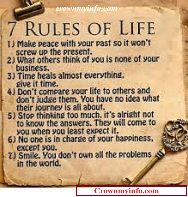 Quotes About Rules Of Life 160 Quotes